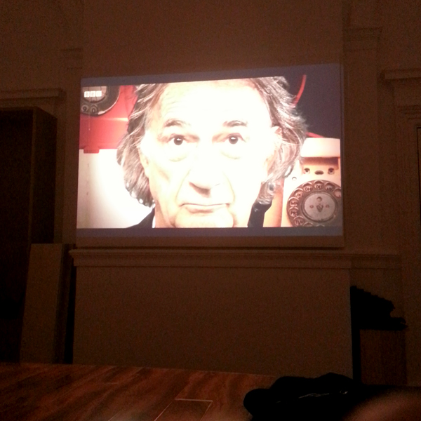 Projector Test...a certain 'Sir Paul Smith'