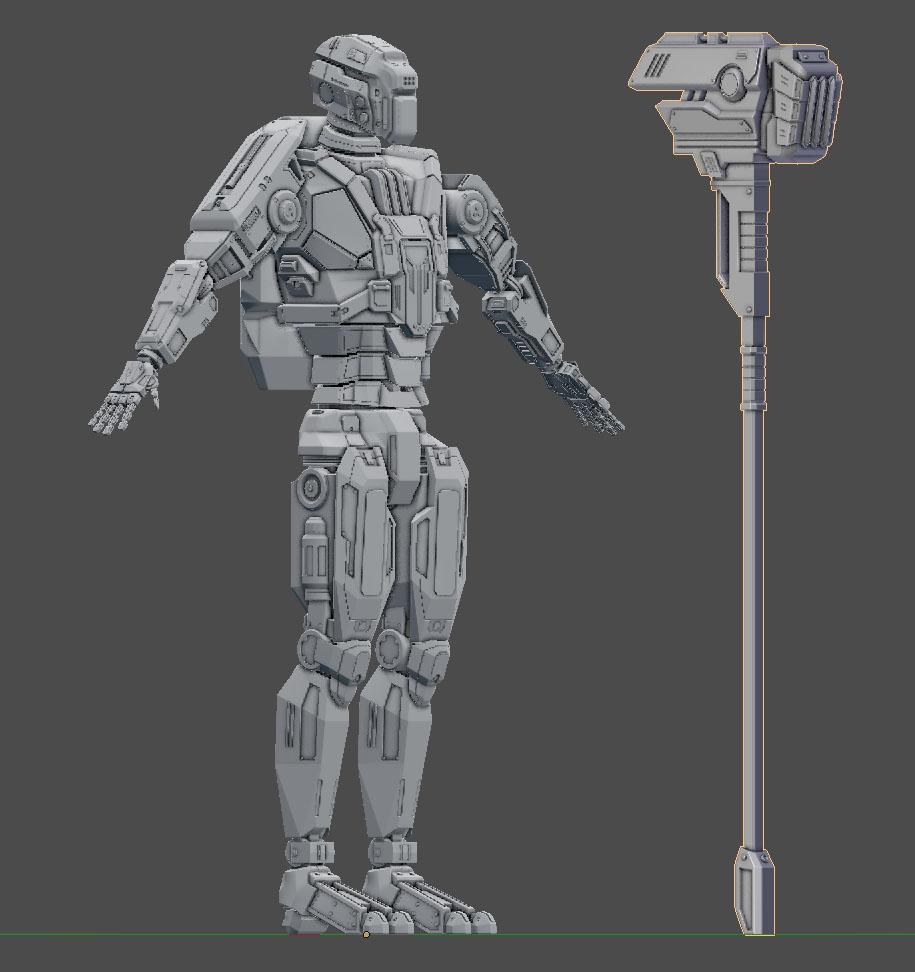 High poly with AO and gray MatCap