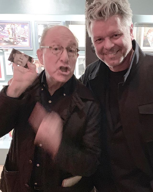 "With American art critic Jerry Saltz at the brilliant Andres Serrano exhibition celebrating the opening night of The Game - All Things Donald Trump. Jerry is ""mouthing off"" as usual giving Mick Jagger's lips some major competition.  Card on left by fellow photographer @patrikanderssonstudio.  @jerrysaltz #jerrysaltz #andresserrano #collection #assemblageart @realdonaldtrump #trumpthegame #exhibition #photocollection #contemporaryart #mickjagger #art #artcurator #artcritic thanks to @johnmireles for the #invitation and #installation and @halstrickland for the #photography #artshow #artnyc #collection #critic #new #artfriends #lips #mustseeshow #hansneleman #nycartist #meatmarket #nyc"