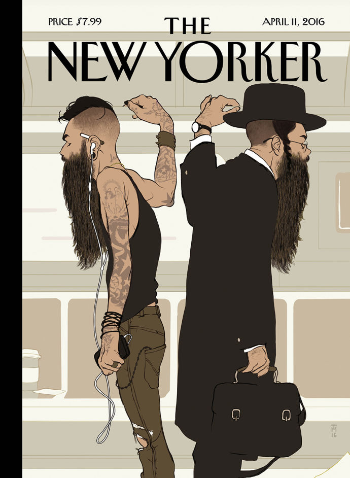 """Take the L Train,"" by Tomer Hanuka."
