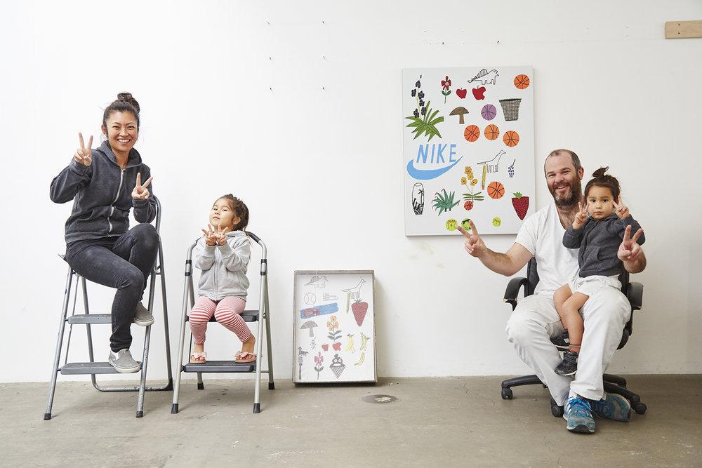 Shio Lusaka + Jonas Wood, W Magazine. Los Angeles