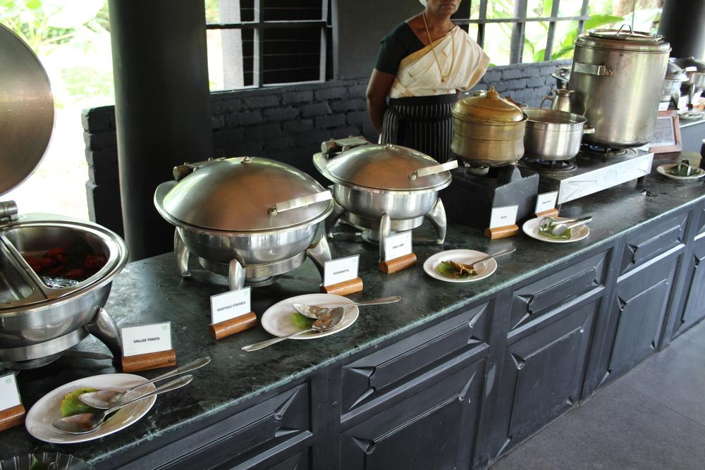 Part of the breakfast buffet at the Taj Kumarakom