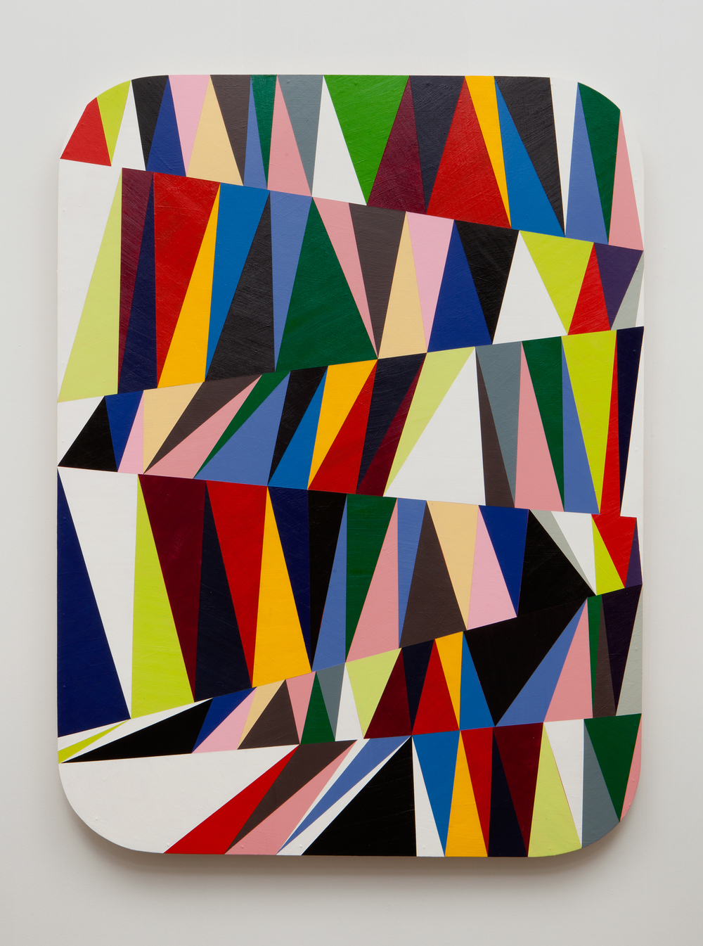 SLATE: Hard Edge Triangle Painting No. 1  , 2015 Golden acrylic on custom panel 48 x 36 inches