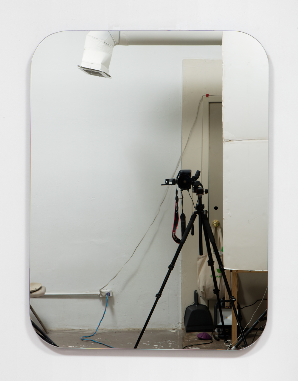 SLATE: Mirror No. 1/4  , 2015 Pre-fabricated mirror on custom mounting system 48 x 36 inches