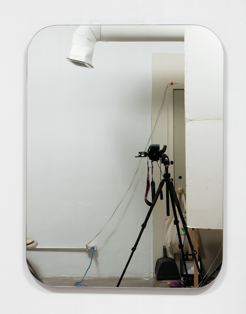 SLATE: Mirror No. 2/4  , 2015 Pre-fabricated mirror on custom mounting system 48 x 36 inches