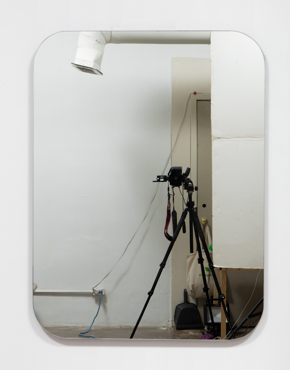 SLATE: Mirror No. 3/4  , 2015 Pre-fabricated mirror on custom mounting system 48 x 36 inches
