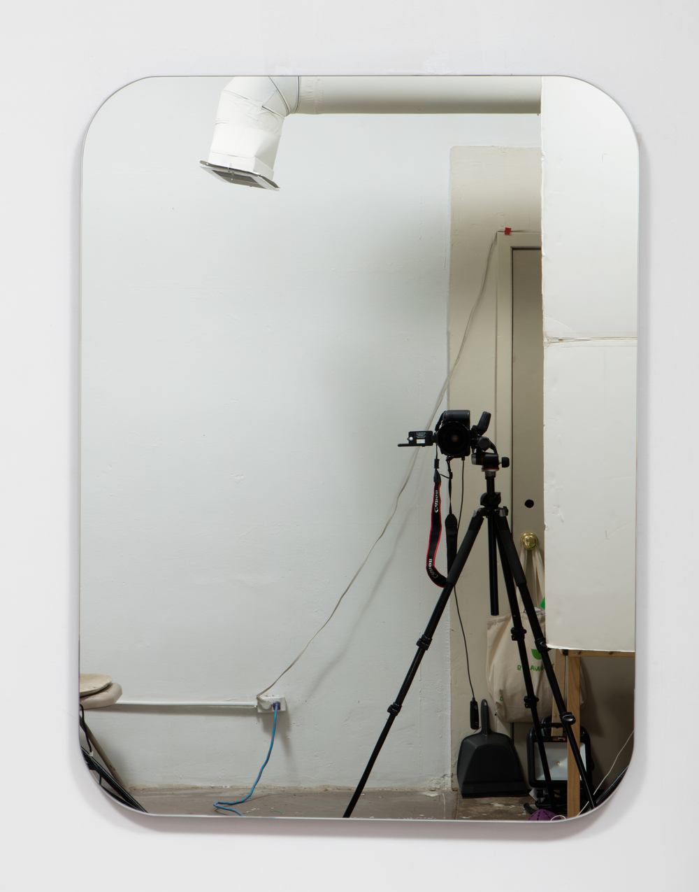 SLATE: Mirror No. 4/4  , 2015 Pre-fabricated mirror on custom mounting system 48 x 36 inches