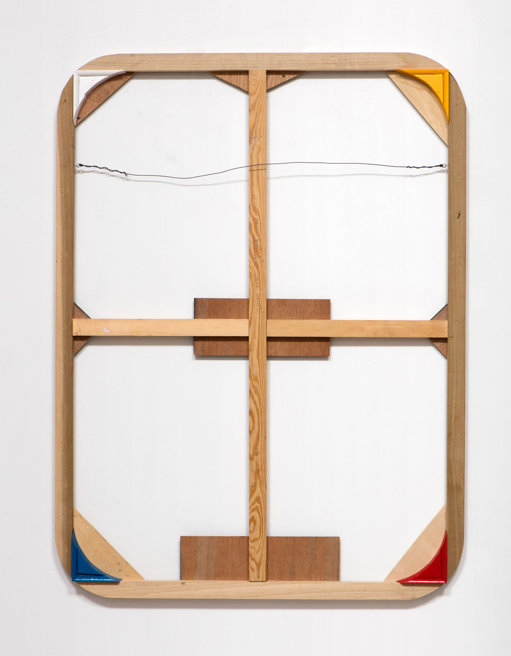 SLATE: Remnant No. 3 (stretcher from 2007)  , 2015 1Shot enamel paint, wood, and picture hanging wire 48 x 36 inches