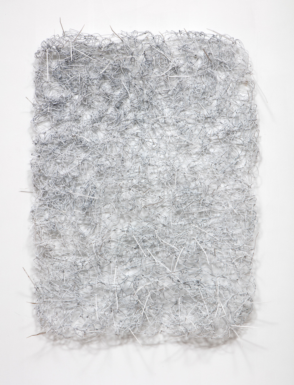 SLATE: Wire Hanger Construction No. 4  , 2015 Spray paint on wire hangers and zip ties 48 x 36 inches