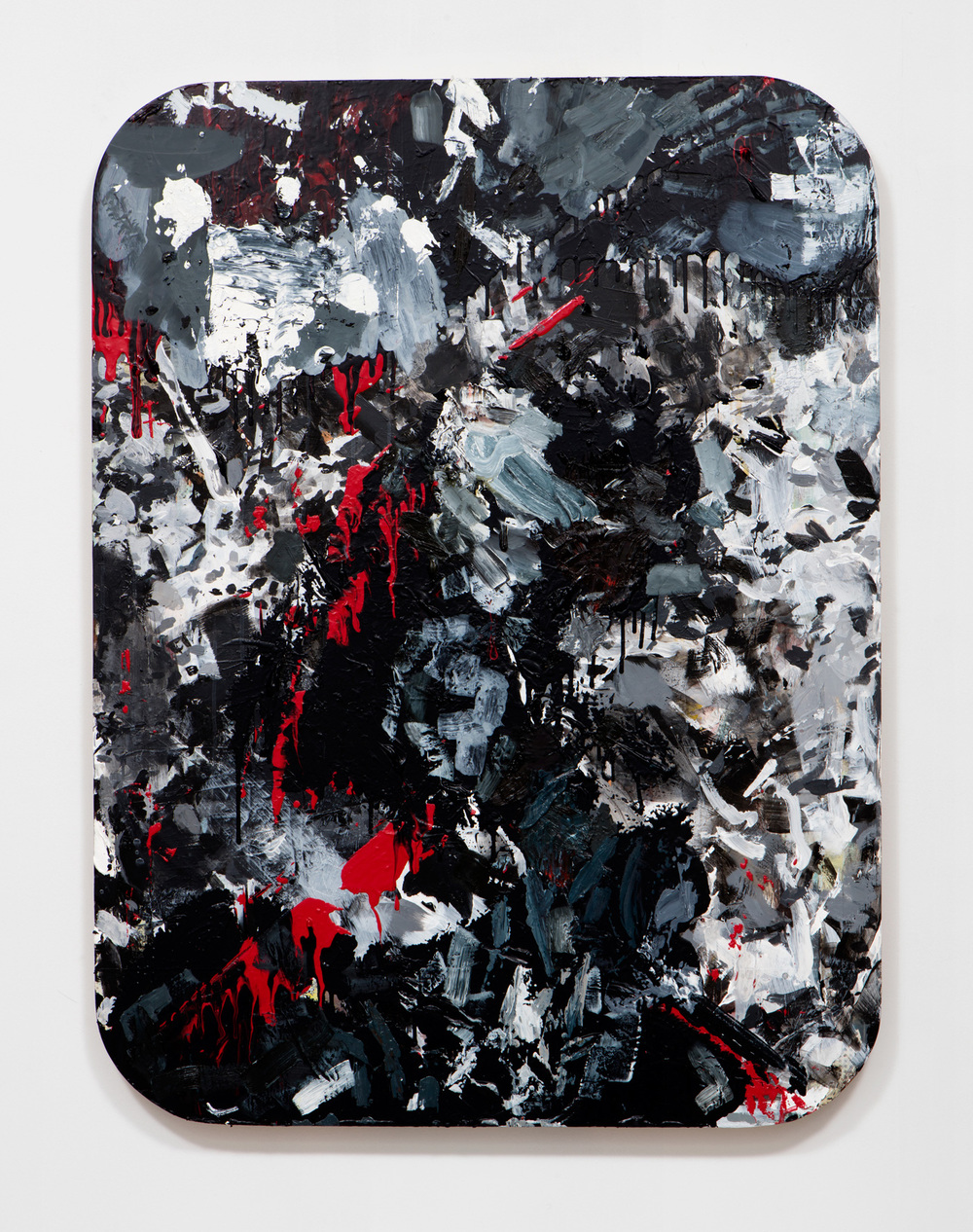 SLATE: Work Panel No. 2 (Erin Cluley Gallery 2015)  , 2015 Mixed media 48 x 36 inches