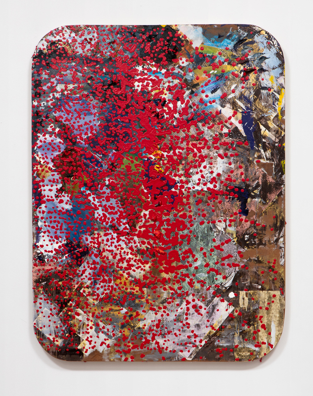 SLATE: Work Panel No. 4 (Erin Cluley Gallery 2015)  , 2015 Mixed media 48 x 36 inches