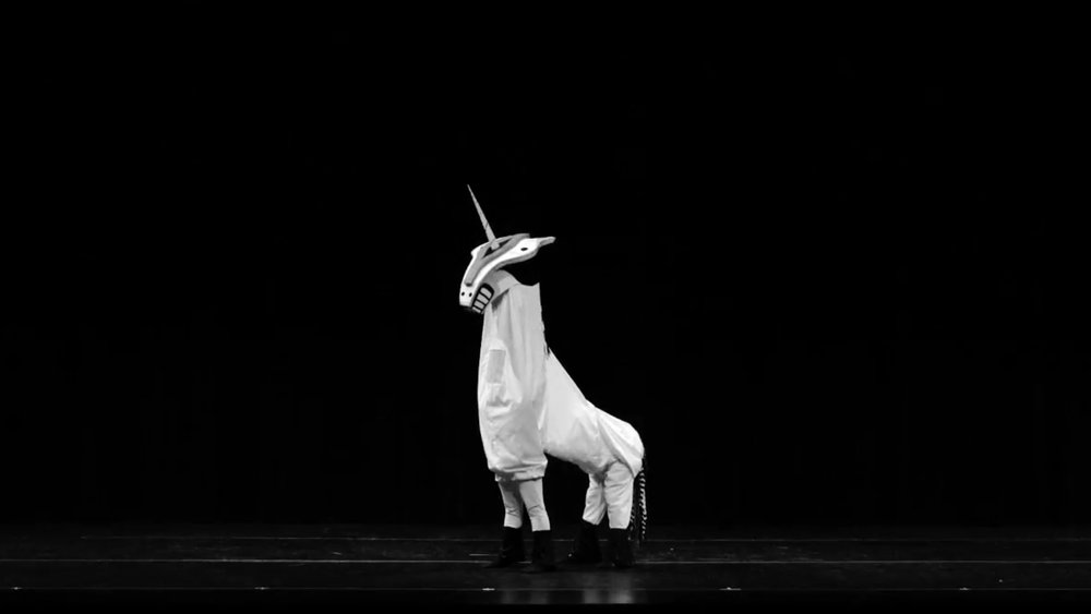 Unicorn costume, detail of the performance Parade with Dallas Neo-Classical Ballet, 2017