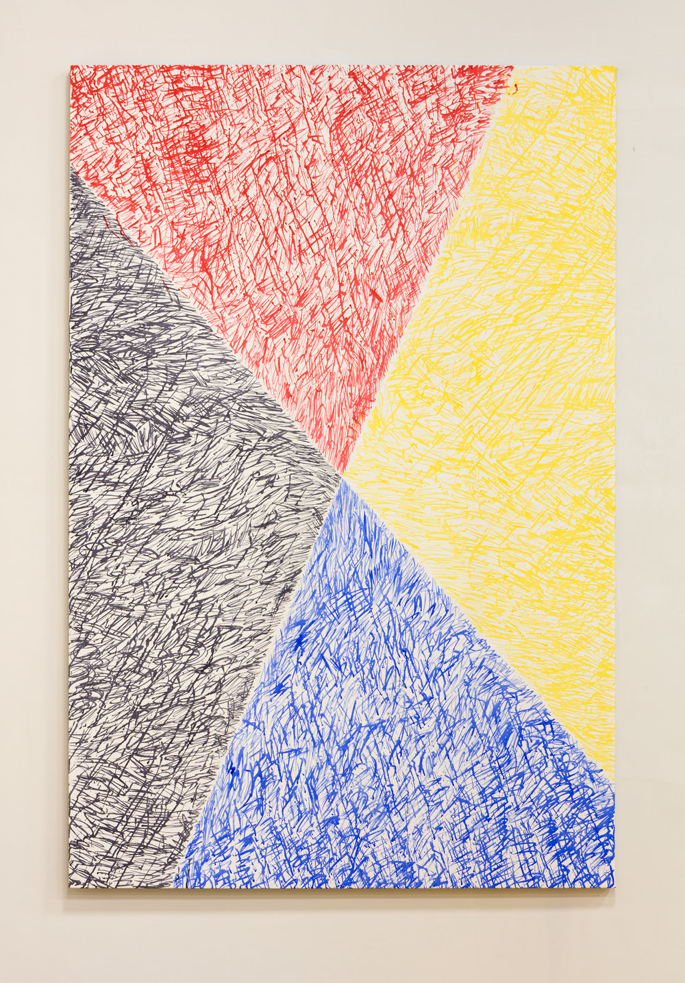 Moreno , 2016 Acrylic ink on canvas 76.5 x 53.25 inches