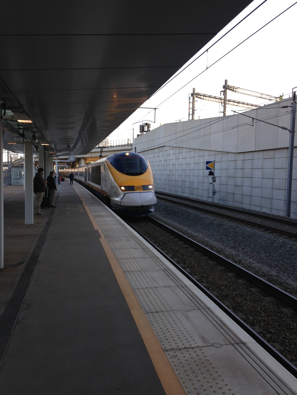 The early morning Eurostar from Ebbsfleet.