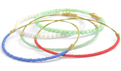 bangle-bracelet-set-coral-mint