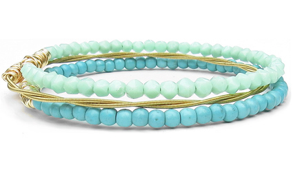 eco-friendly-jewelry-bracelet-sets-turquoise-green
