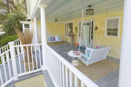 Painted porch by  McNamara Designs