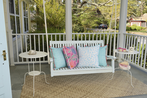 Colorful outdoor decorby McNamara Designs