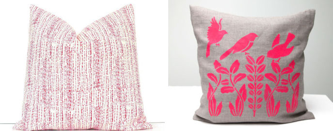 organic embroidered pillow by 39 day of the dead pillow by 40 hot pink accent pillow by