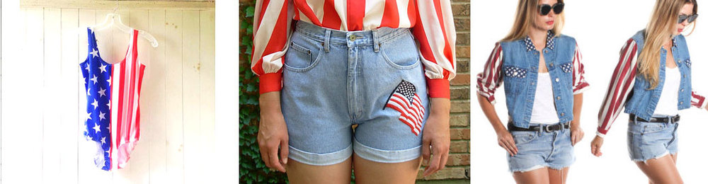 Team USA leotard from vernasvintageATL // American flag jean shorts from manorborn // American flag denim shirt from ragdollvintage