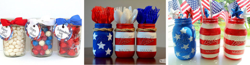 4th of July party favors  by  AlohaCakesbyAndrea  //  American flag mason jars  by  GoldenUpcycling  //  4th of July party decorations  by  KathiJanes