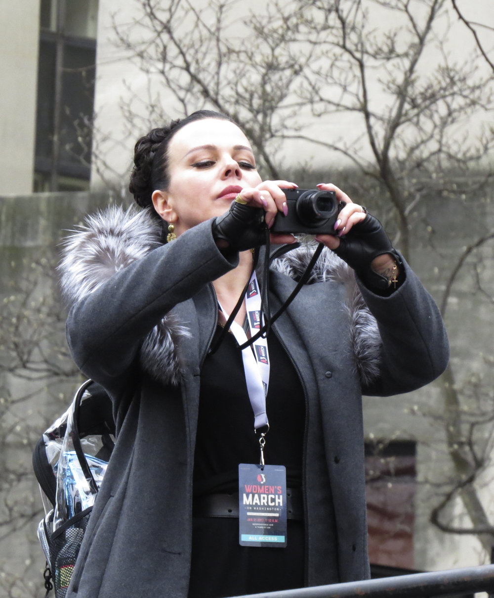 Debi Mazar at Women's March on Washington