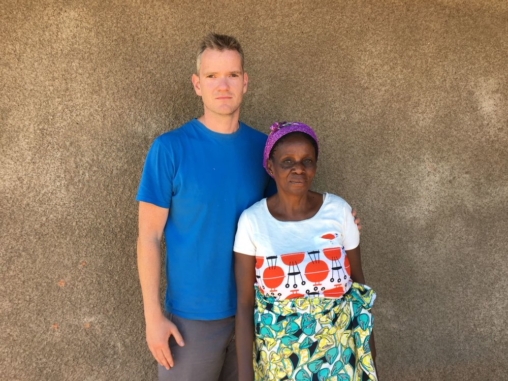 Our sister and her husband were kidnapped in December. Her husband was killed. She has now returned to Luanza.