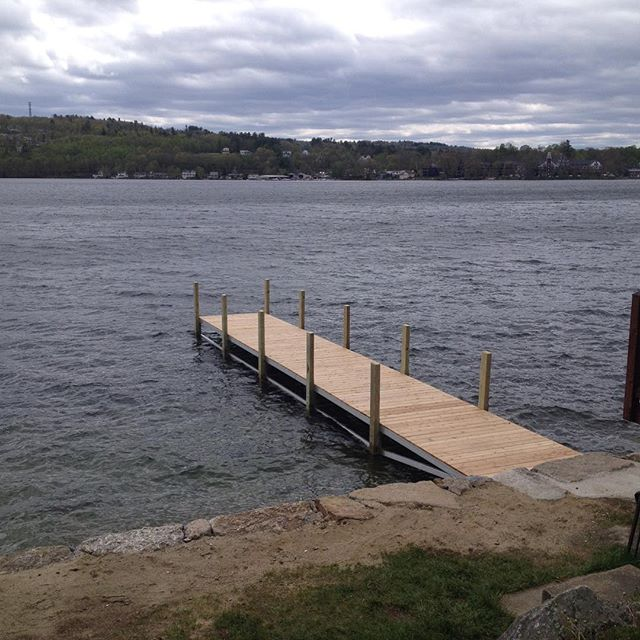 Lift up dock ready to go #dock #lakewinnipesaukee #winnipesaukee #meredithnh #newhampshire