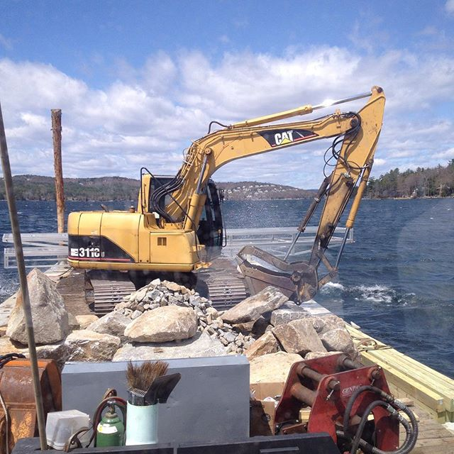 On the move with #rock #docks and #dirt #winnipesaukee