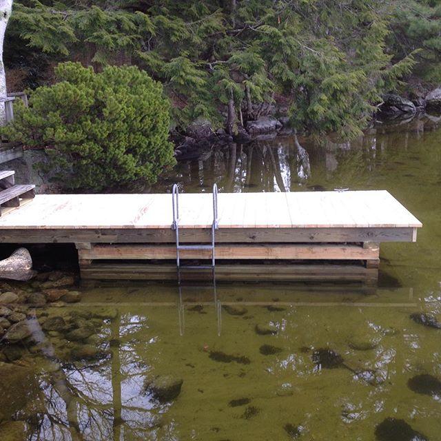 Crib dock #dock #cribdock #lakewinnipesaukee