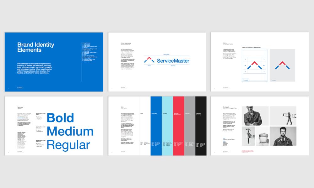 servicemaster brand guide amc design inc rh amcdesigninc com corporate branding guide standards corporate branding guidelines pdf for web