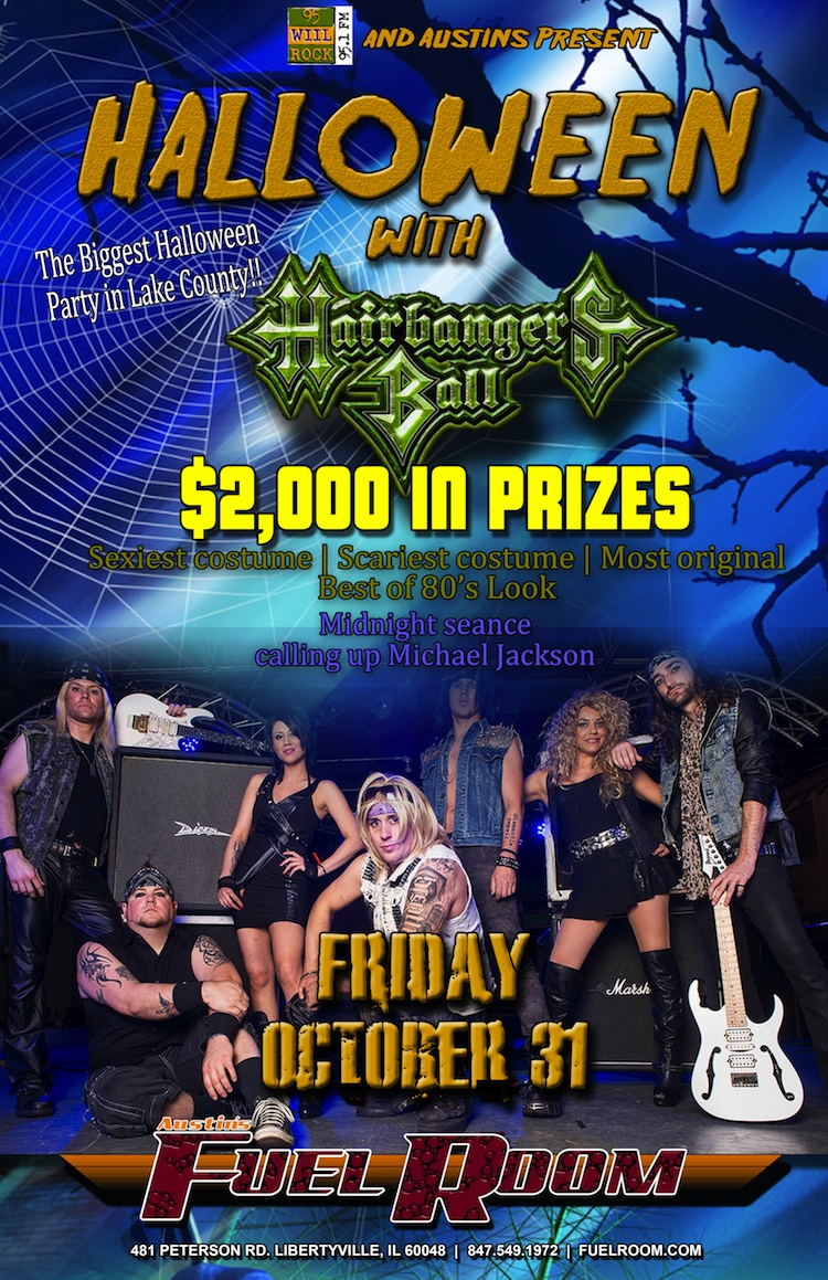 HALLOWEEN AT AUSTIN'S WITH HAIRBANGER'S BALL 2014
