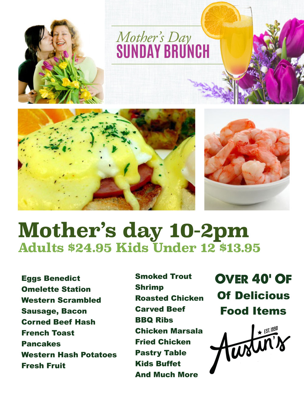 Mothers Day Brunch Austins Saloon Eatery Restaurant Sports Bar