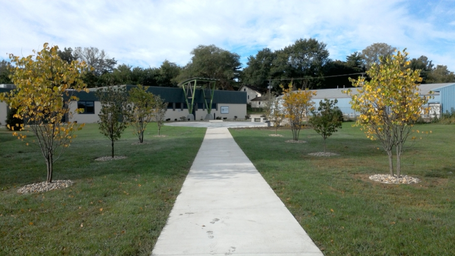 STEM Central project transformed an empty green.