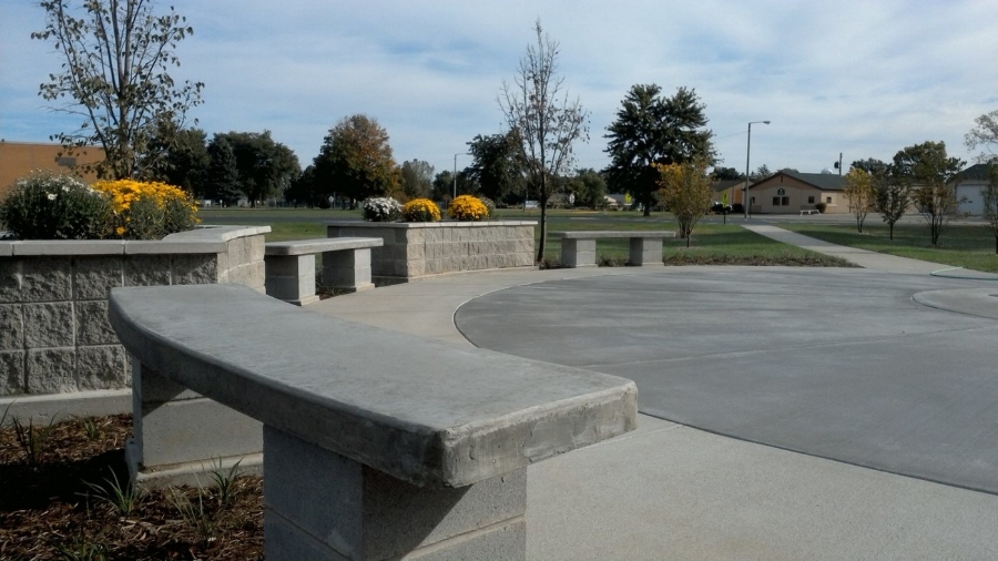 Benches and planters built with kids, ages 12-16
