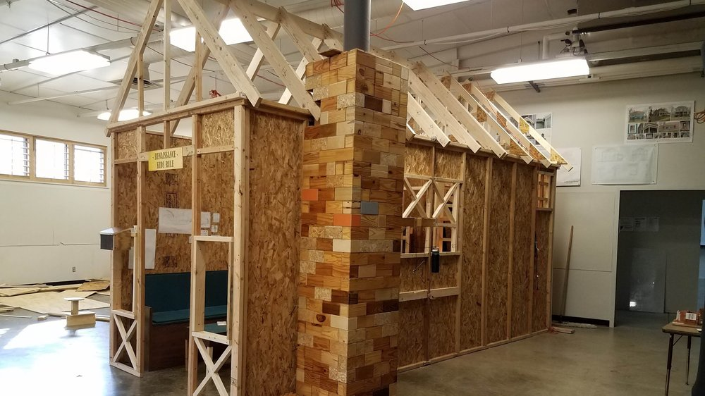 "Tiny house model, ""FULL"" scale.  8'W x 18'L x 12'H"