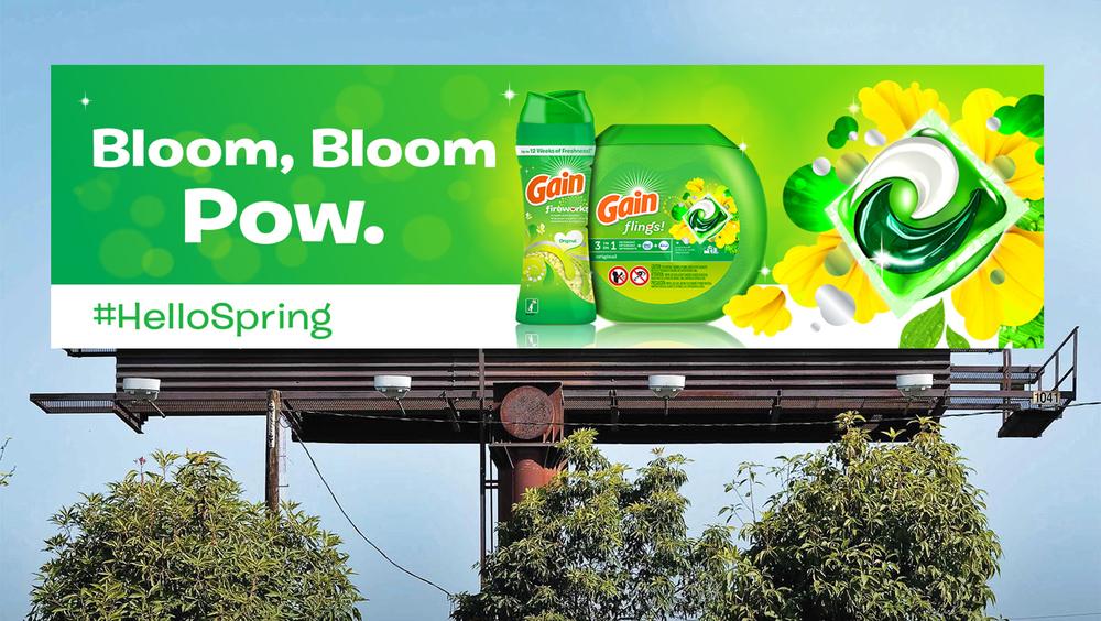 Spring billboard unit