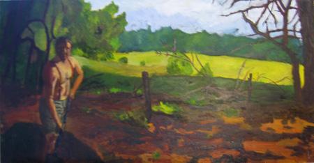 2009,  Faulkner Narrative Series  24x10 Oil on MDF
