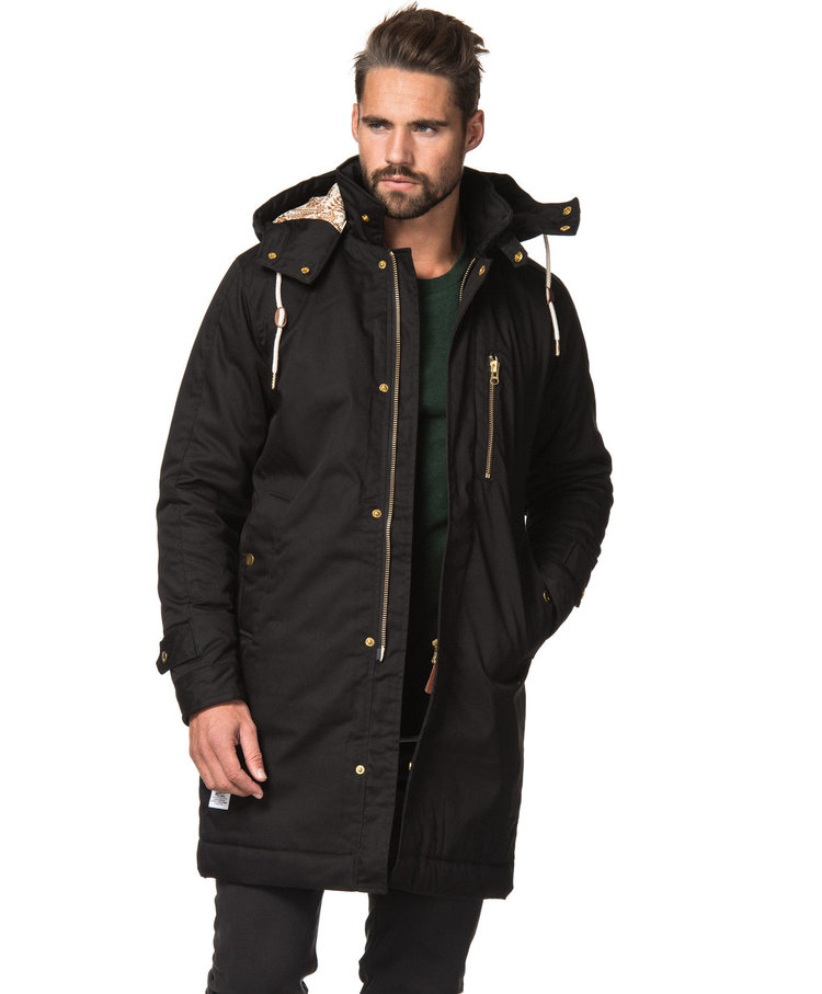 WeSC Vikram Padded Hooded Parka (Black) — Men's Backstage
