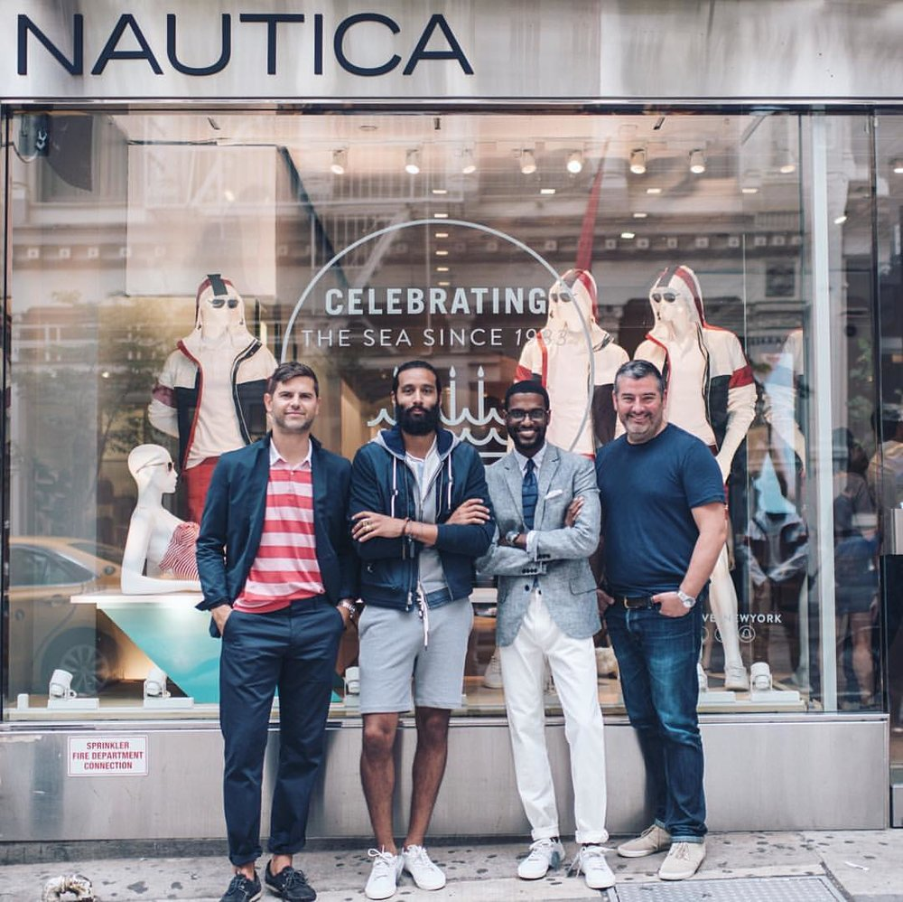 Earlier last month at @Nautica X @GQ #instameet style-off. Ran in there taking chips like Jordan w/ @GenteelFlair .   #NautiByNature • (at Nautica)