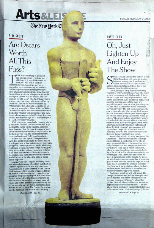 Oscar for The New York Times