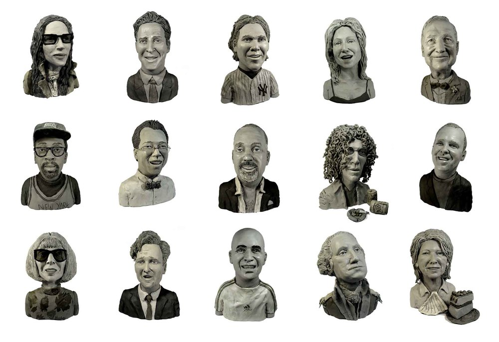 "As seen in the ""The Week"" section of New York Magazine, 52 heads in over 500 different poses."