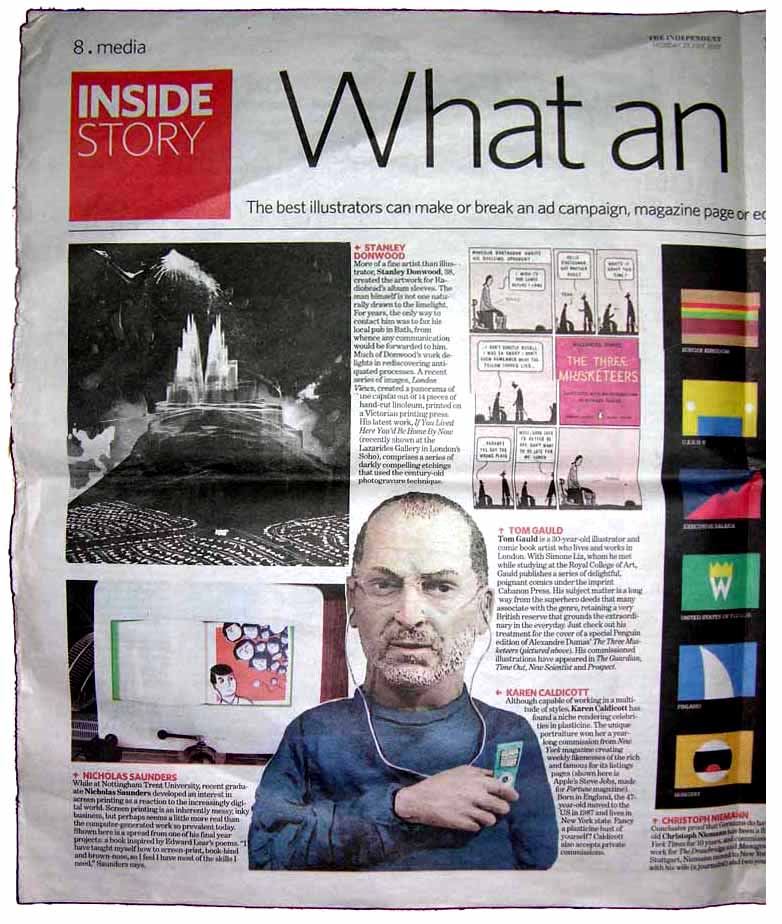 "The Independent, Newspaper U.K an article on ""Best"" Illustration now"