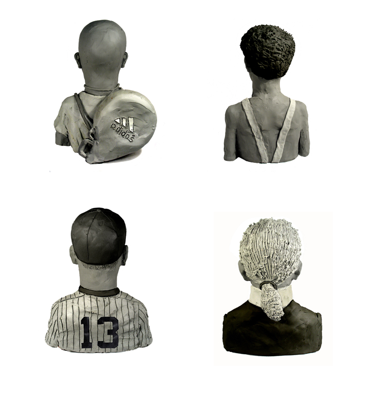 And the backs of (L to R) Andre Agassi, Sasha Baron Cohen, Alex Rodriguez, and Karl Lagerfield