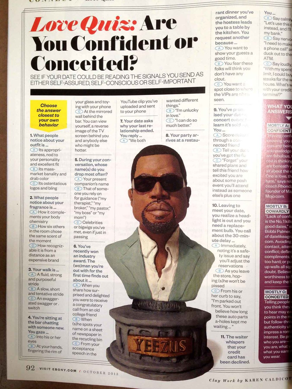 Kanye West for Ebony magazine