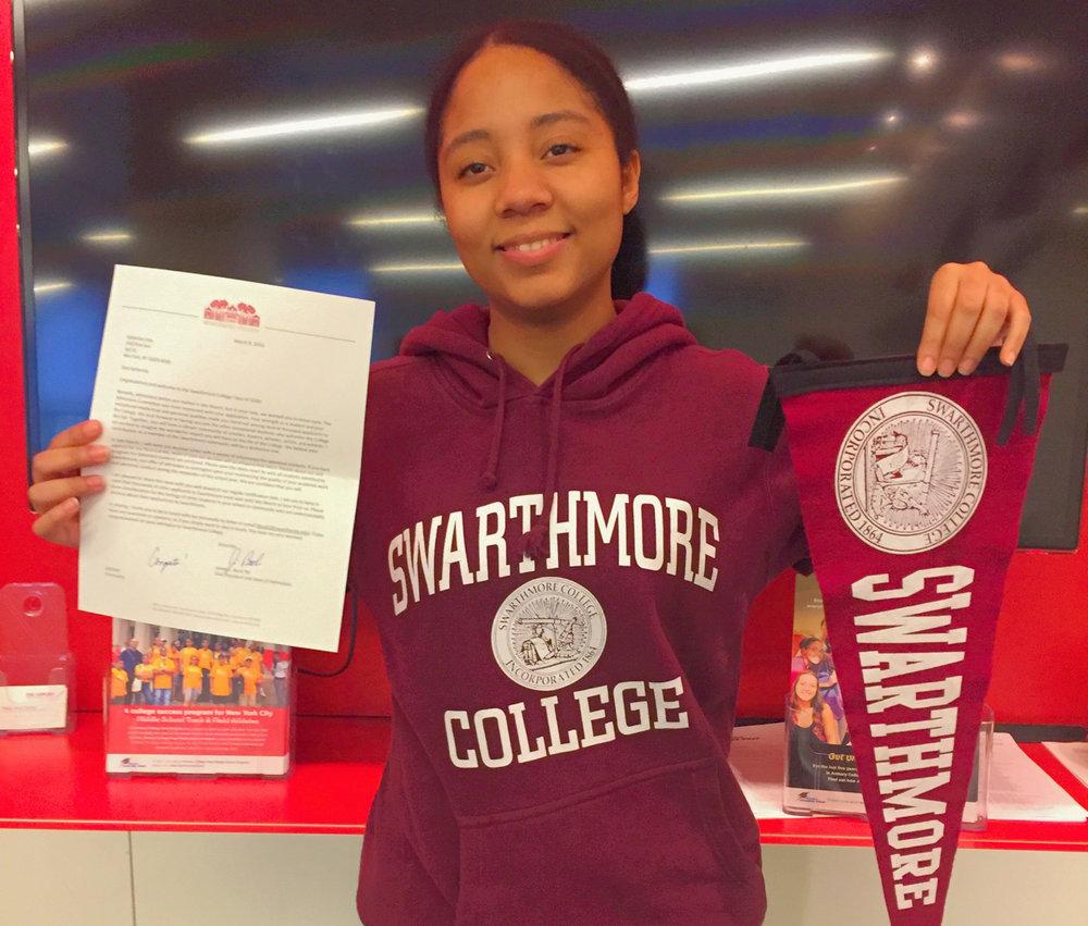 Katherine Lima after Swarthmore College Acceptance.JPG