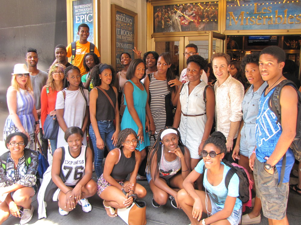 ACP Students at Les Miserable on Boradway.JPG