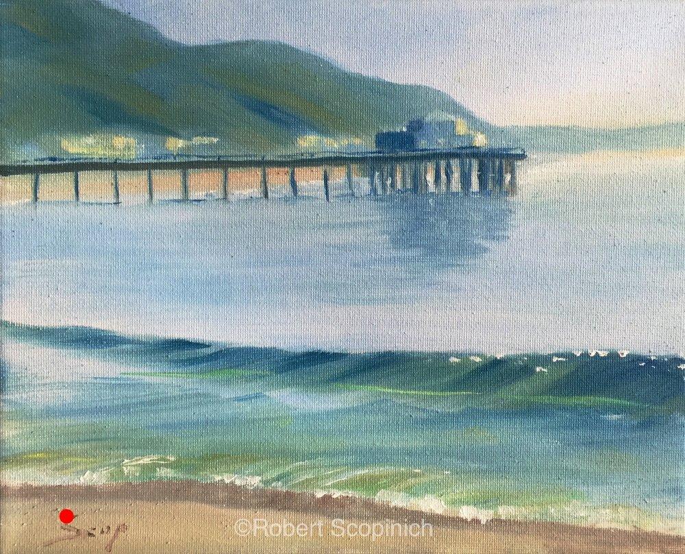 Malibu Pier and Wave