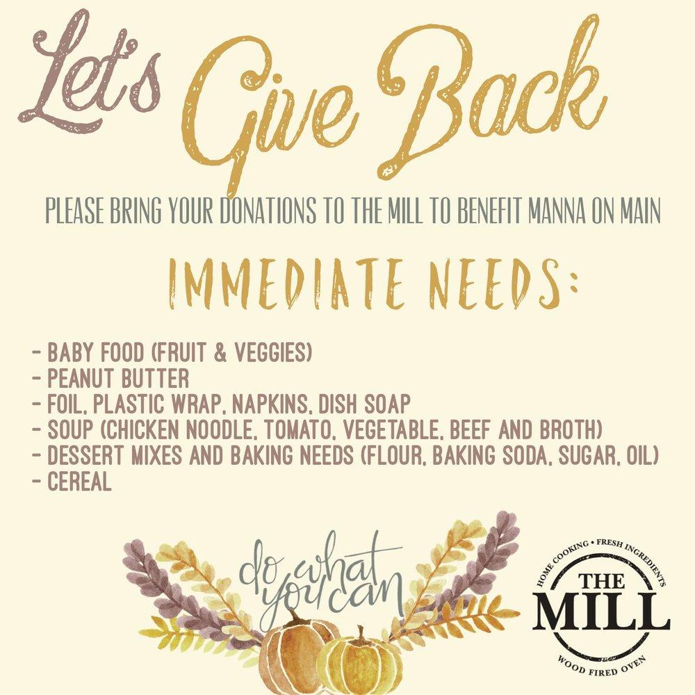 mill kulpsville food drive