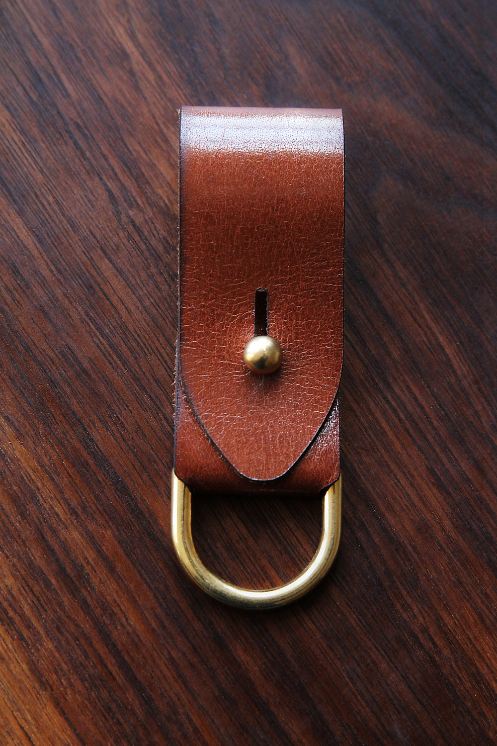Brass & Leather Key Fob